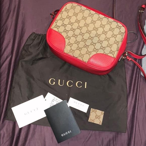 8b33f191a5e Gucci Handbags - Gucci Bree Guccissima Crossbody Bag